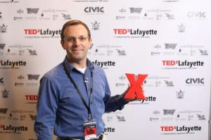 Keith poses at TEDxLafayette 2014