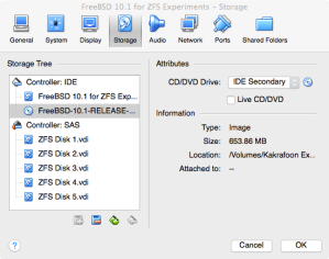 ZFS Playground VM with all disks created.